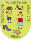 Kunterbunt ist das Neukirchener Kindergarten-Emblem.