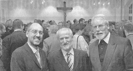 v.l.n.r.: Dr. Thomas Großmann, Hans Dieter Schröder, Monsignore Jochen Koenig