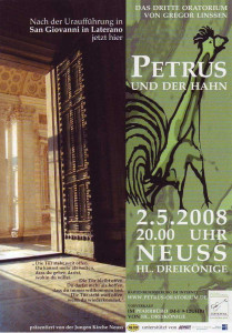 Oratorium: Petrus und der Hahn