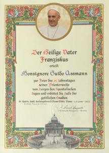Päpstlicher Segen und Volksfest zum Priesterjubiläum