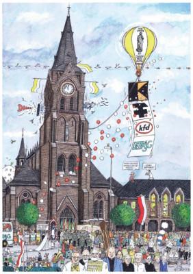 Küfen-Poster zum Pfarrjubiläum von St. Josef