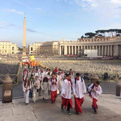 Ministranten auf Wallfahrt in Rom