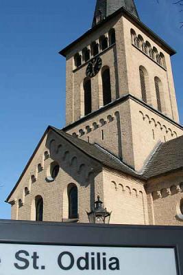Ziel der Gohr-Pilger: die Pfarrkirche St. Odilia. Foto: TZ