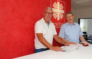 Legten die aktuelle Caritas-Bilanz vor: Norbert Kallen (rechts) und Hans W. Reisdorf. Foto: TZ