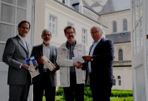 500. Mitglied (von links): Stephan Großsteinbeck, Willi Bednarczyk, Theodor Wienen und Hermann-Josef Lenz.