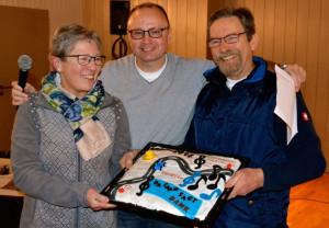 Da Capo: Monika und Paul Hollmann, mit Vorstandsvorsitzendem Willy Schlömer.