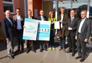 Im Malteserstift St. Katharina wurde jetzt die KlimaExpo-Urkunde verliehen. Foto: KlimaExpo.NRW