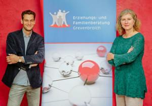 Zogen Bilanz: Birgit Röttgen und Thomas Overlöper von der Erziehungs- und Familienberatung.