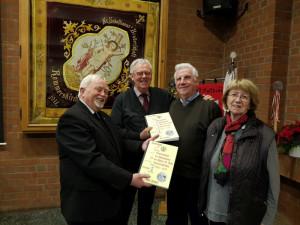 Gründeten die Matthias-Pilgergruppe St. Peter: Franz Josef Freericks, Franz-Josef Osterath, Theo Burtscheidt und Gertrud Fischer (von links).