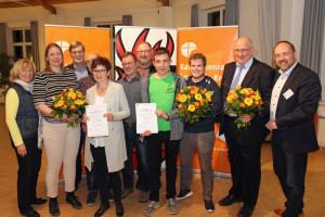 Engagiert für die katholische Kirche: die Gewinner des Hermann-Straaten-Preises und die dafür zuständigen Vorstandsmitglieder des Kreiskatholikenrats.