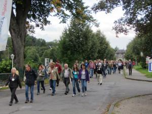 Auf dem Jakobsweg am Kloster Knechtsteden.