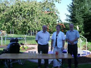 In Nievenheim eröffnete die Caritas eine Außengehschule.