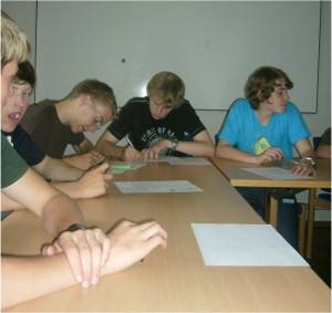 Teilnehmer einer Leiterschulung
