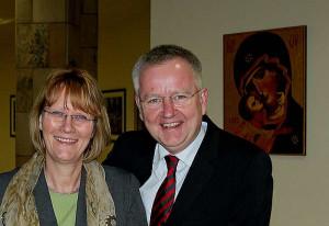 Cornel Hüsch und Karin Kortmann beim Neujahrsempfang. Foto: TZ