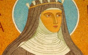 Die heilige Hildegard von Bingen.