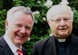 Cornel Hüsch und Erzbischof Zollitsch. Foto: TZ