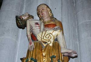 Das Gnadenbild der Schmerzensmutter ist das Ziel der Knechtsteden-Pilger. Foto: TZ