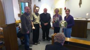 Von links: Johannes Westerdick, Pfarrer Breu, Dechant Freericks, Katharina Hamacher und Beate Werner-Ruetsch.