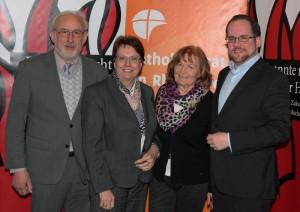 Das neue Führungsquartett des Kreiskatholikenrats (von links): Adolf Thöne, Dr. Ulrike Nienhaus, Jutta Köchner und Thomas Kaumanns.