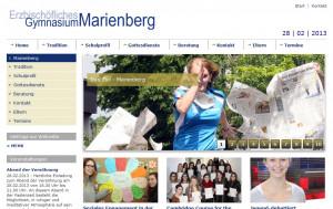 Gymnasium Marienberg mit neuer Homepage