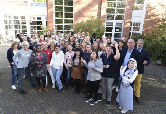 Die neuen Caritas-Mitarbeiter wurden herzlich willkommen geheißen.