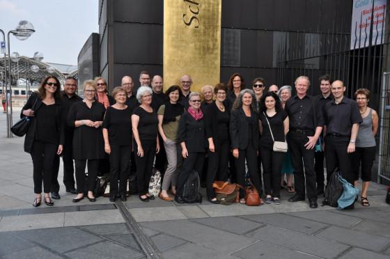 Vorfreude auf die Vesper im Kölner Dom: der Kammerchor an der Basilika Knechtsteden.