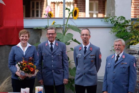 Wachwechsel bei den Maltesern (von links): Stephanie Geldmacher, Martin Rösler, Dirk Büttgen und Carlo Hahn.
