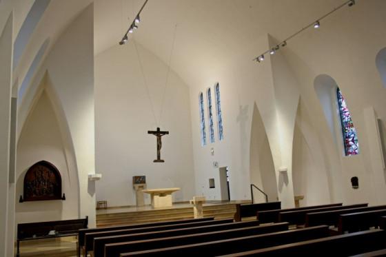 """Die Noithausener Wallfahrtskirche St. Mariä Geburt steht jetzt in der Datenbank über Nordrhein-Westfalens """"StadtBauKultur"""". Foto: TZ"""