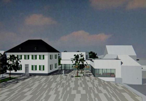 So soll das Gemeindezentrum neben dem Pfarrhaus aussehen.