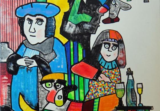Luther und seine Frau Katharina von Bora: Otmar-Alt-Werk im Raphaelshaus. Foto: TZ