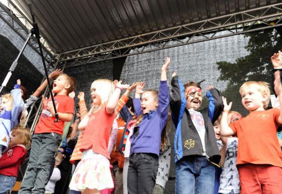 Voll in Aktion: die Tagesstätten-Kinder des Hauses der Familie in Dormagen.