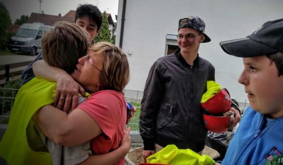 Die bayerischen Flutopfer waren dankbar für die Hilfe aus dem Raphaelshaus.