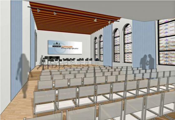So soll das Musikzentrum in der alten Libermannhaus-Kapelle aussehen.