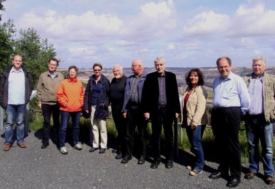 Beeindruckt vom Tagebau: Seelsorger aus dem Dekanat Grevenbroich/Dormagen.