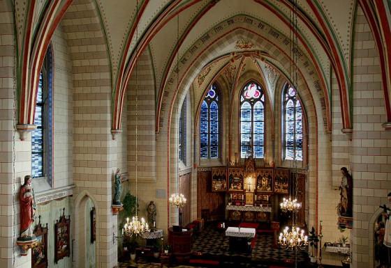 In St. Agatha findet nach der Wache die Feier der Osternacht statt. Foto: TZ