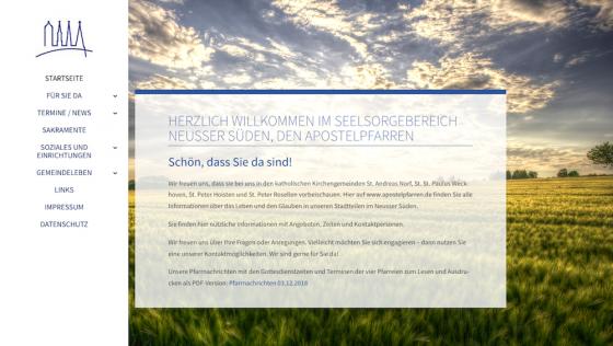www.apostelpfarren.de wieder online