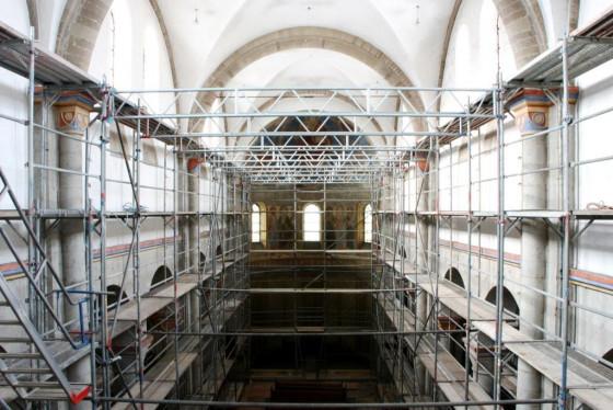 Gerüste haben die Basilika in Knechtsteden fünf Monate geprägt.