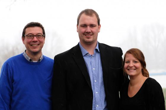 Pfarrer René Fanta, Volker Andres und Elena Stötzel (v.l.n.r.)