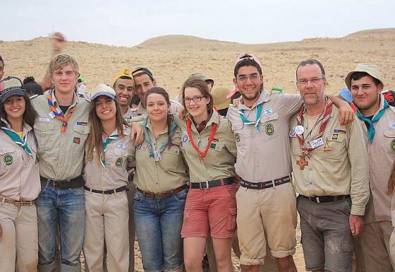 Deutsch-israelische Begegnung in der Negev-Wüste.