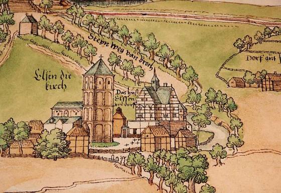 So sah Elsen auf einer Landkarte von 1536 aus.