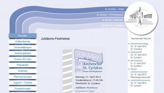 Pfarreiengemeinschaft rund um die Erftmündung mit neuem Internetauftritt