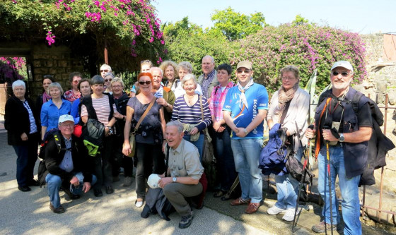 Die Pilgergruppe in Kafarnaum.