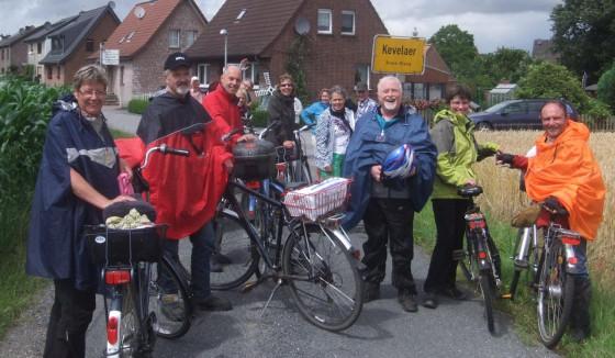 Angekommen in Kevelaer: die Radpilger aus Nettesheim.