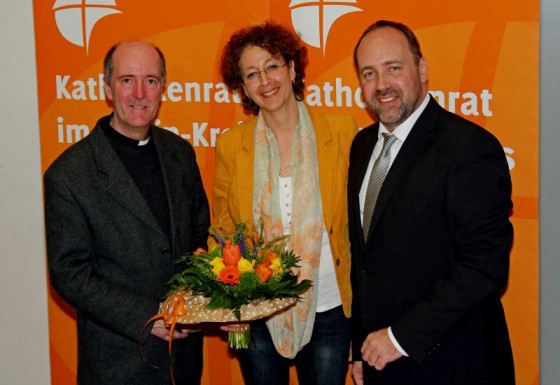 Vollversammlung des Kreiskatholikenrats (von links): Kreisdechant Guido Assmann, Silvia Dawid und Walter Pesch.