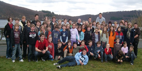 Grevenbroicher Jugendliche in der Eifel.