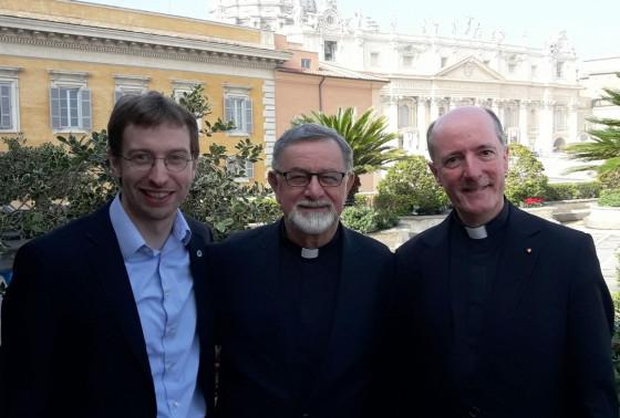Drei Pfarrer in Rom