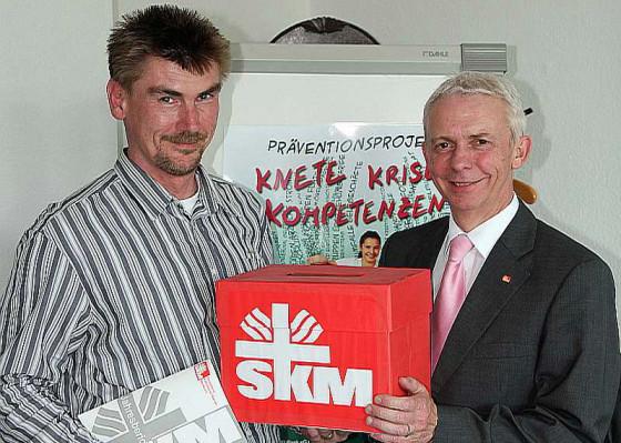 Franz Eßer (rechts) und Uwe Simons vom SKM. Foto: TZ
