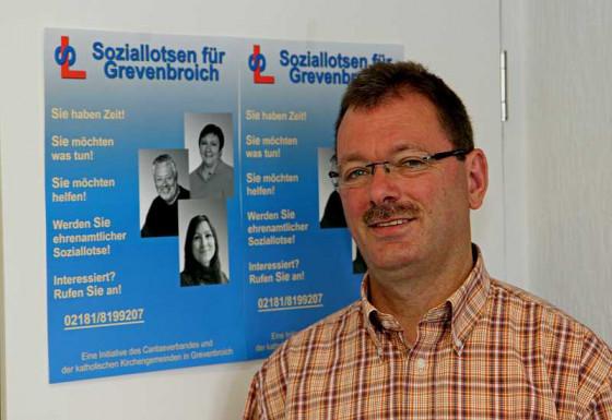 Jürgen Weidemann koordiniert das Soziallotsen-Projekt. Foto: TZ