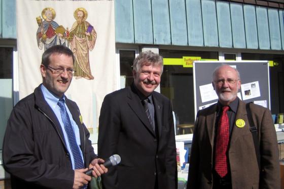 Joachim Braun, Pfr. Wolfgang Vossen, Matthias Schmitz (von links nach rechts)