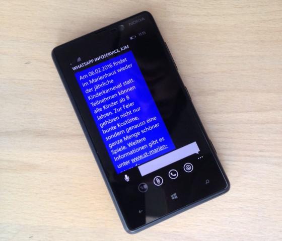WhatsApp-Service der Pfarrjugend St. Marien gestartet